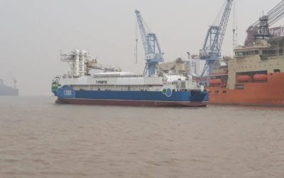 MV Lucky Eyre leaves Chinese port