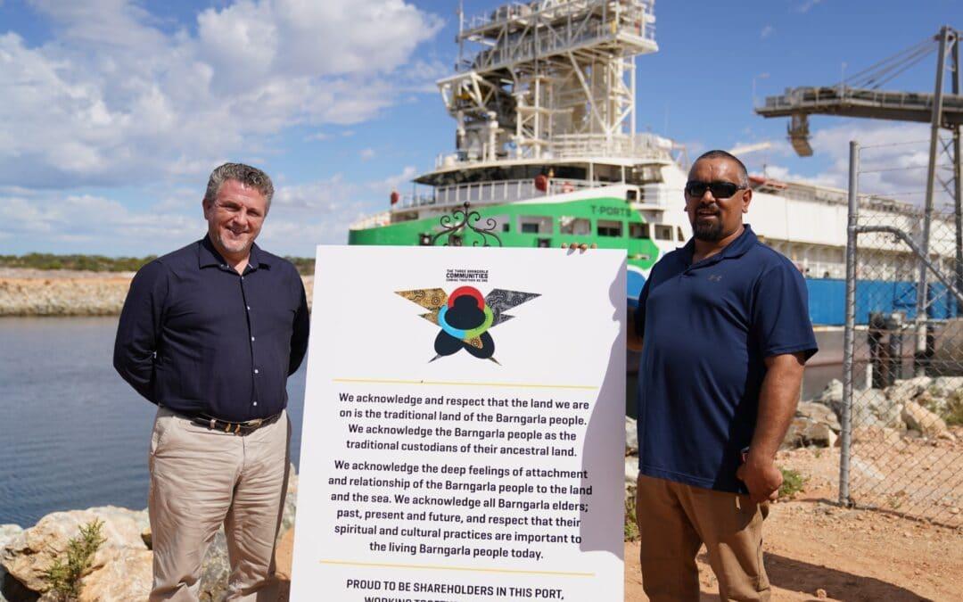 Barngarla people now shareholders of Lucky Bay port